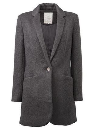 Шестяное пальто блейзер