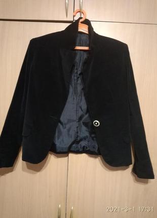 Піджак велюровий