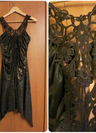 Соблазнительное облегающее платье кружевное выпускное