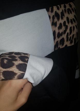 Свитшот колор блок леопард5 фото