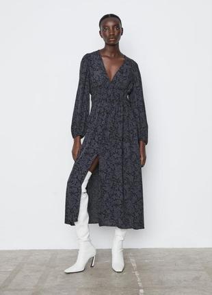 Платье миди, макси zara, сукня, плаття