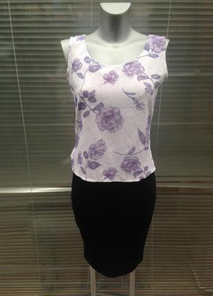 Майка-блуза с цветочным принтом