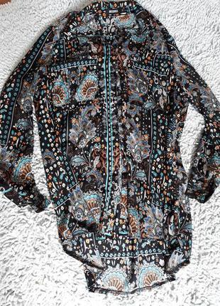 Шикарная удлиненная блуза