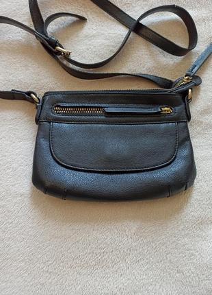 Черная сумочка из  натуральной кожи