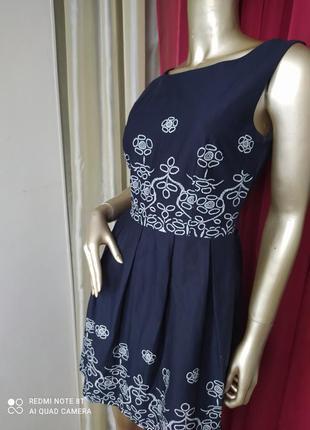 🍰🧁🍨крассивое нарядное катоновое платье с вышивкой brend italian🇮🇹