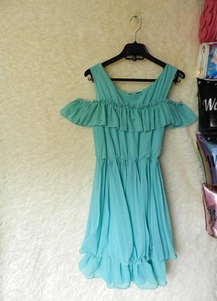 ✅ платье с воланом шифон дефект