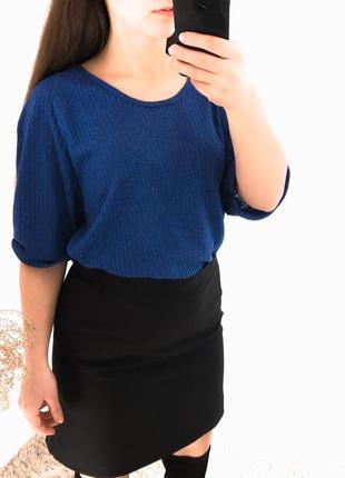 Блуза кофточка в рубчик база яркая