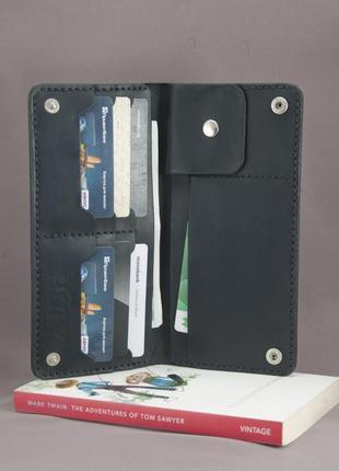 Кожаный портмоне тревеллер бумажник кошелек ручная работа