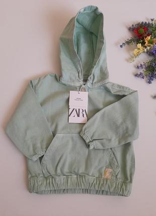 Джинсовая куртка zara ветровка детская на 9-12 мес, на мальчика девочку