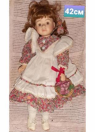 Коллекционная винтажная немецкая кукла 42см в отличном состоянии