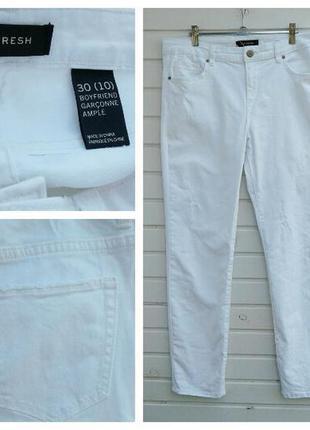 Белые джинсы-бойфренды от joe