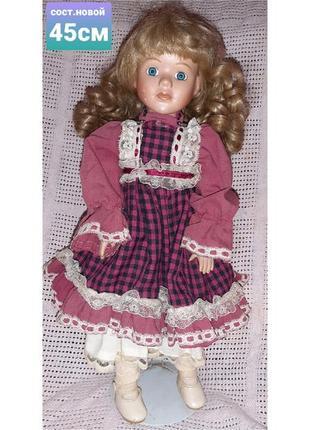 Коллекционная винтажная немецкая кукла 45см в отличном состоянии