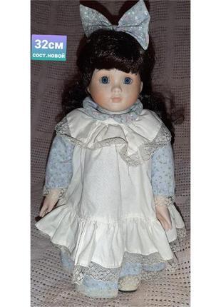 Коллекционная винтажная немецкая кукла 32см в отличном состоянии