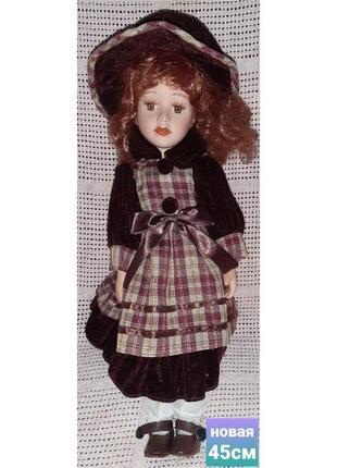 Кукла коллекционная винтажная производство германия 45см в идеальном состоянии