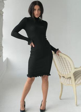 ❤ розпродаж ❤ красиве зручне плаття , сукня з рюшами оверсайз турция