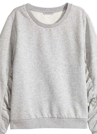 Новая женская толстовка h&m серая s/m свитшот кофта с длинными рукавами