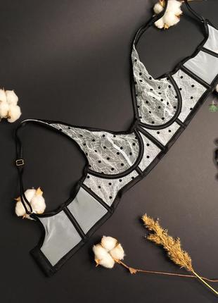 Сетчатый нежный лиф luxe lingerie unlined plunge bra victoria's secret