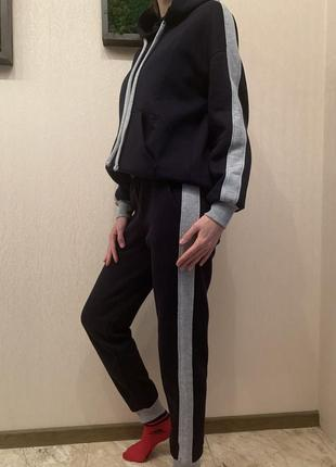Спортивный костюм на флисе, тёплый спортивный костюм, худи и джогеры на2 фото