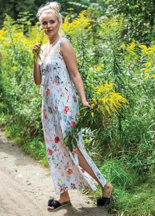 Домашнее женское платье из вискозы key lhd 906 1 a21