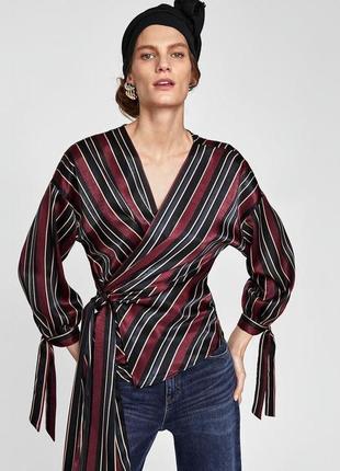 Блуза стильная трендовая на запах оригинал zara s