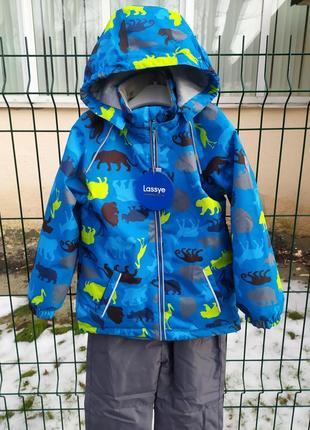 Демисезонный утепленный термо костюм куртка + брюки, 80-116