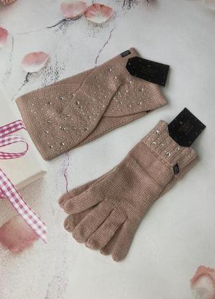 Повязка и перчатки виктория сикрет
