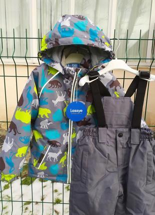 Демисезонный утепленный термо костюм куртка + брюки. 80-1162 фото