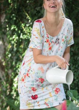 Домашнее женское платье из вискозы с коротким рукавом key lhd 906 2 a21