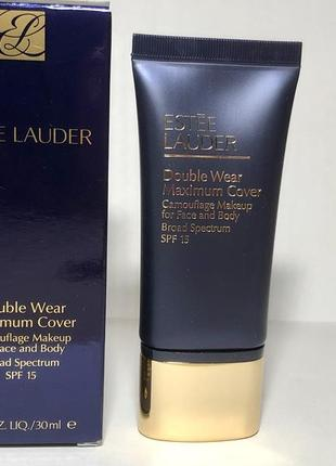 Тональный крем double wear maximum cover camouflage makeup for face and body spf 15