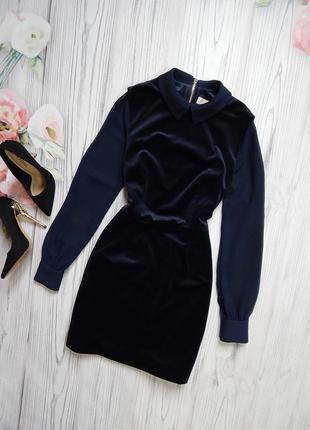 🌿дорогое, брендовое бархатное платье от ted baker. размер xs🌿.
