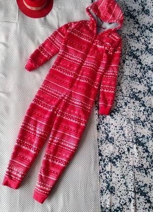 Теплый домашний комбинезон пижама marks & spencer комбінезон піжама