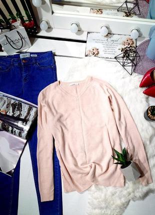 Свитер нежно-розовый с v вырезом waikiki, оригинал, приятный к телу