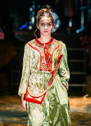 """New collection / авторское платья """"осенний сад"""" сумочка в подарок"""
