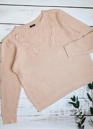1+1=3 отличный пудровый женский свитер m&co, размер 56 - 58, большой размер