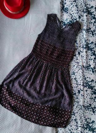 Sale платье из вискозы с резинкой на поясе new look плаття сукня