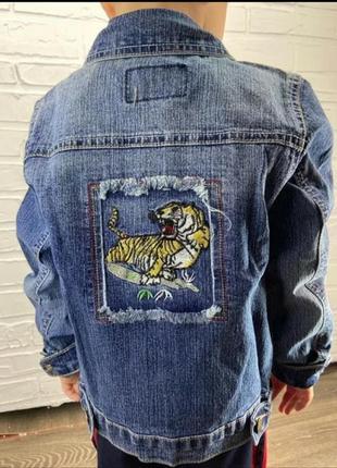 Пиджак джинсовый детский 60091 s.l.xl.xxl