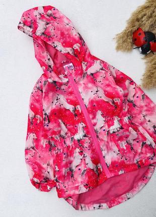 Куртка ветровка единорог розовая