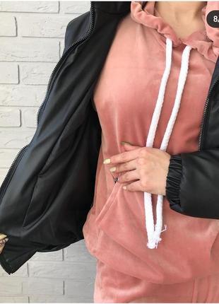 ❤бомбезные дутые демисезонные куртки экокожа3 фото