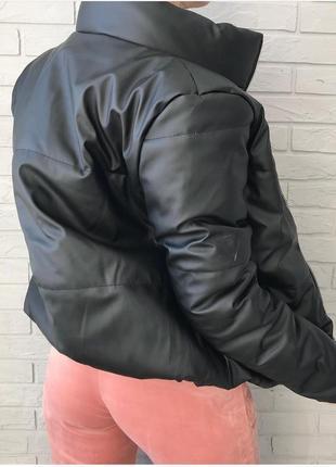 ❤бомбезные дутые демисезонные куртки экокожа2 фото