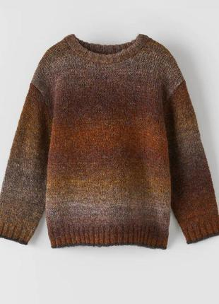 Детский свитер zara с эффектом омбре, размер 14 лет