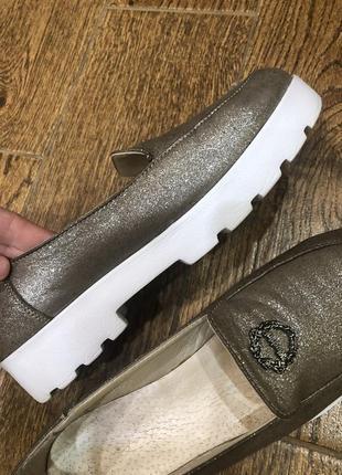 Слипоны туфли кожа оригинал италия