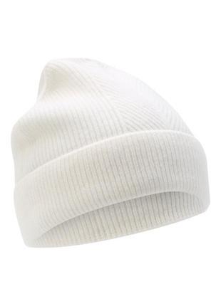 Кашемировая  мохеровая шапка-бини