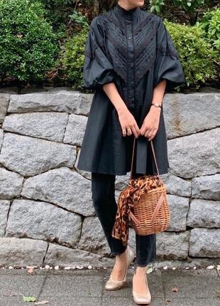 Платье-рубашка от zara платье с объёмными рукавами