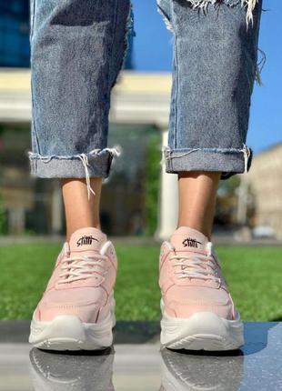 Кроссовки женские  светло-розовые