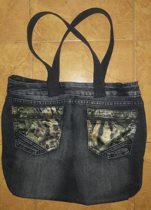 Сумка  джинсовая.1 фото