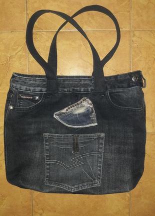 Сумка  джинсовая.2 фото