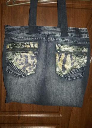Сумка  джинсовая.3 фото