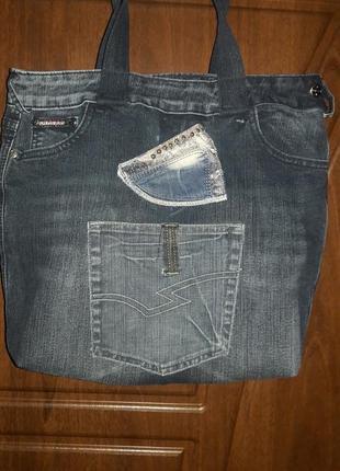 Сумка  джинсовая.4 фото