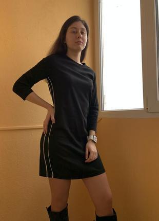 Платье чёрное с белой полоской blue motion