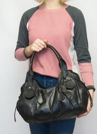 Кожаная сумка, шккіряна, ecco. натуральная кожа.